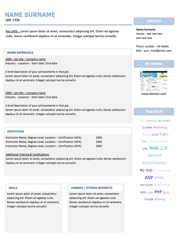 Webmaster Resume  Examples Of Resumes  Projects To Try