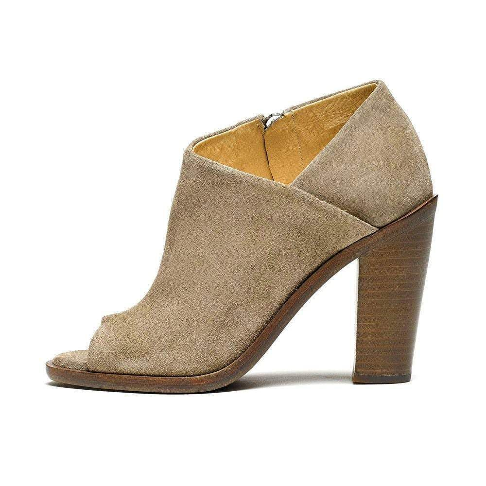 Rag & Bone Mabel Grey Suede Block Heel Boot