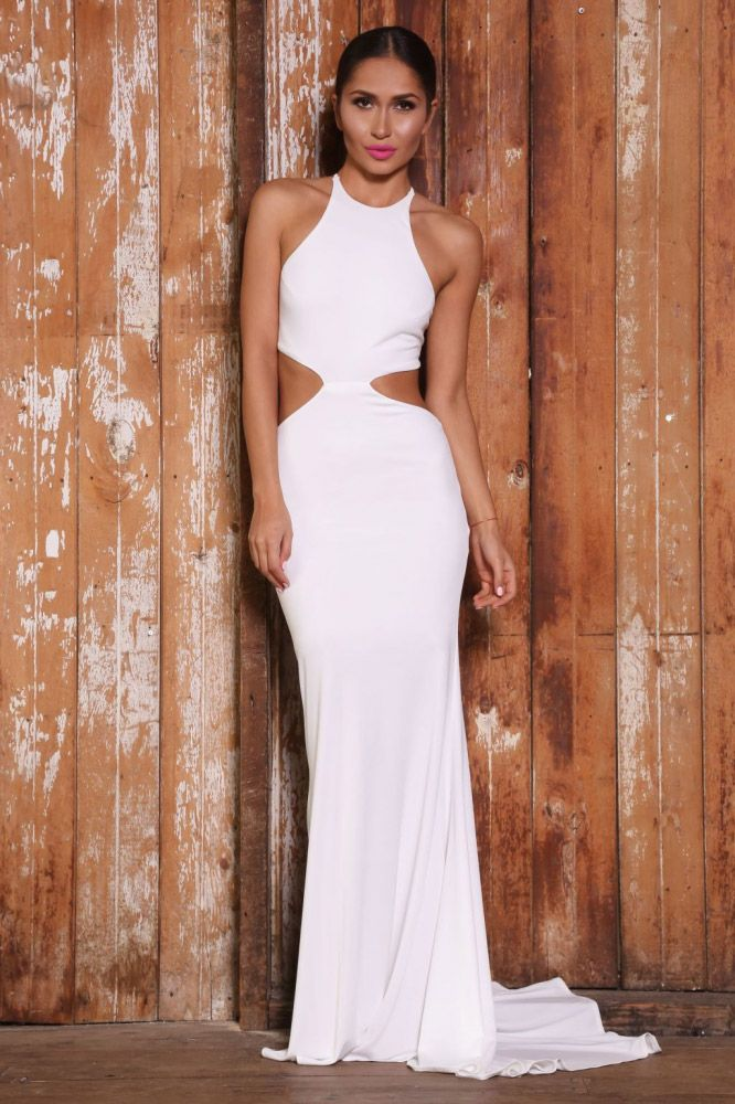 6b91a898eab8c open back sleeveless white halter neck mermaid long sexy prom dress with cut  waist
