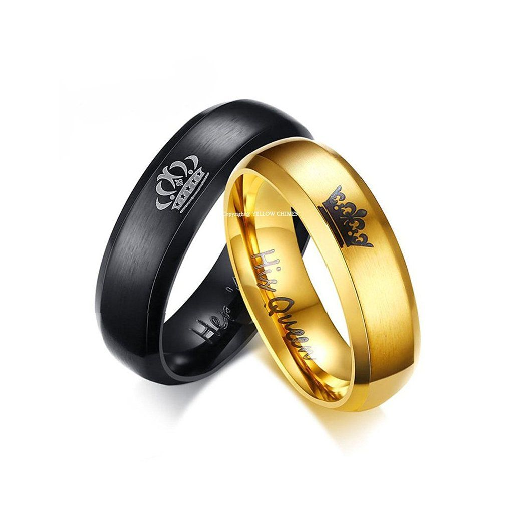 His Or Hers Matching Set His Queen Her King Tita Rings For Men