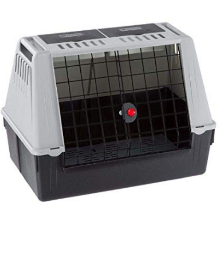 Ferplast Car Carrier For Dogs Atlar Car Mini Pet Carrier Ventilation Grids Draining Pad Included 72 X 41 X H 51 Cm Grey Uk Product England Amazonuk Pro