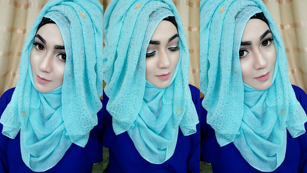 most requested tutorial easy layered look hijab style with saree