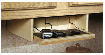 organizer and enlarge kitchen end cabinet charging rack stations station ideas key