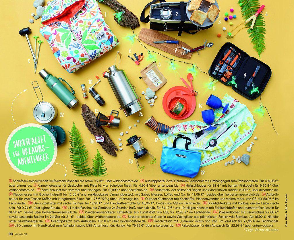 Survivalkit für Urlaubsabenteurer / Lecker Magazin für Wildhood store