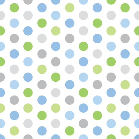 Baby Boy Blue Antarctic Polkadot Pattern 40 Fabric By Doodletrain Best Boy Patterns