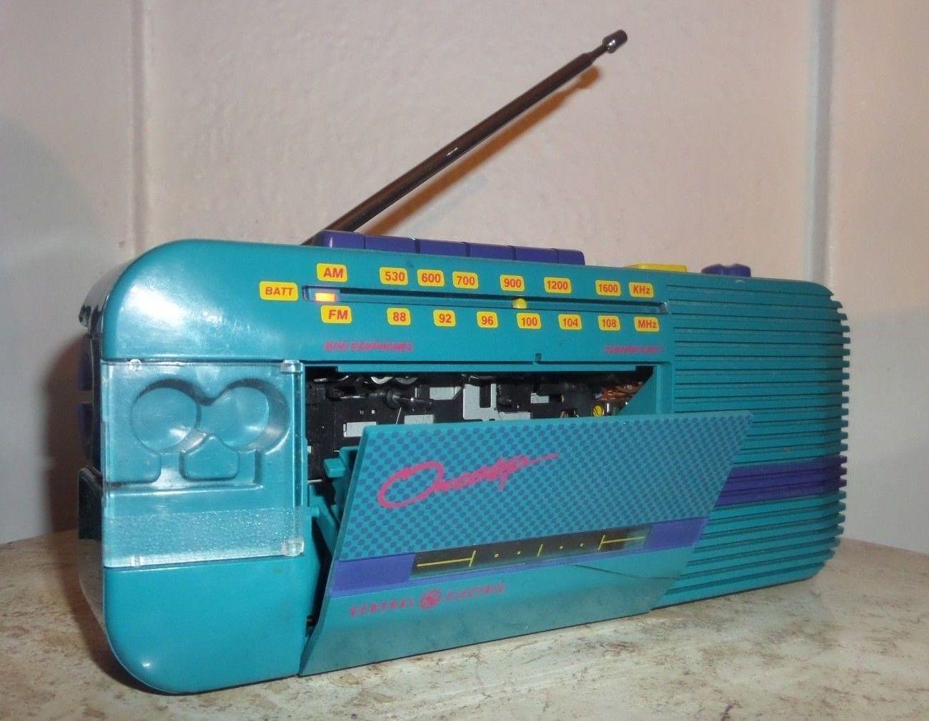 79968937091c0 90's Retro General Electric Onestep Cassette Tape Player AM/FM Radio ...