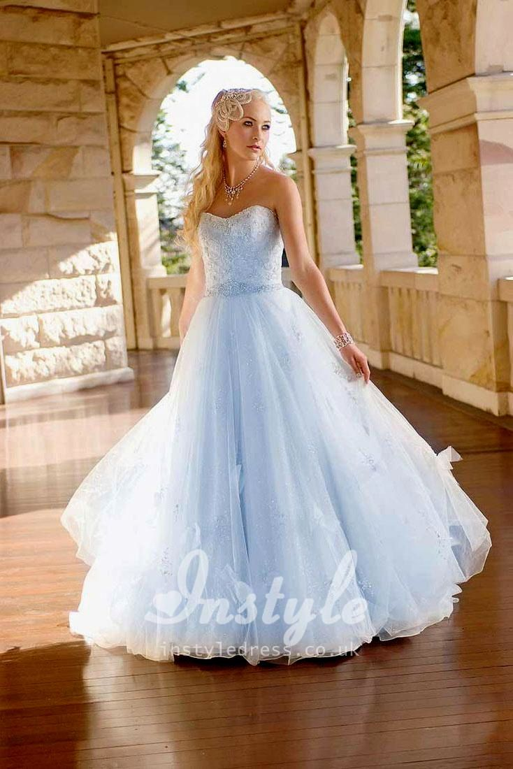 Winter Blue Wedding Dresses Picture
