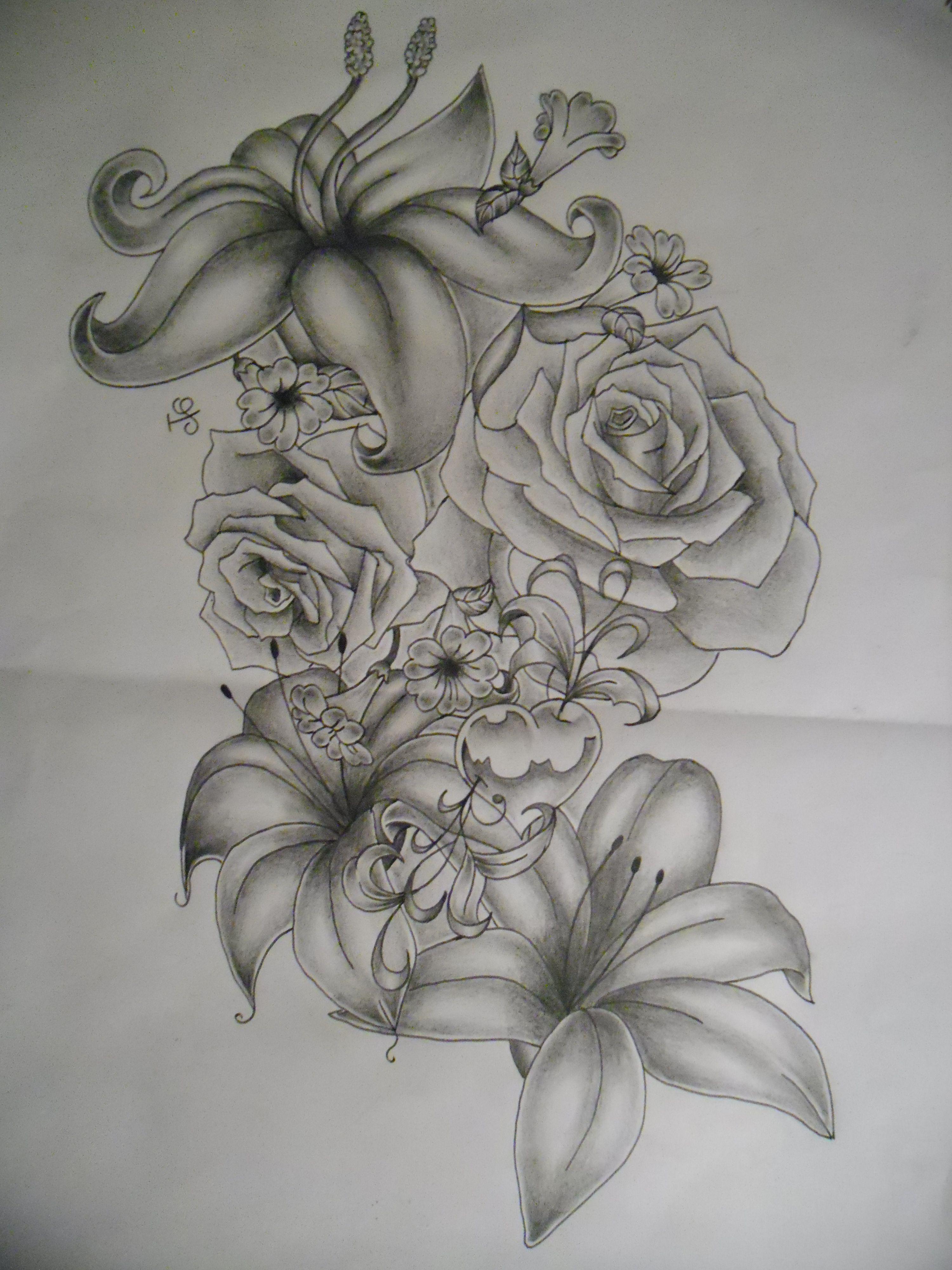 Flower Tattoo Designs | flowers tattoo design by tattoosuzette designs interfaces tattoo ...