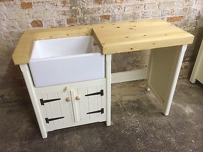 Pine Freestanding Traditional Belfast Butler Sink Unit With Appliance Cover