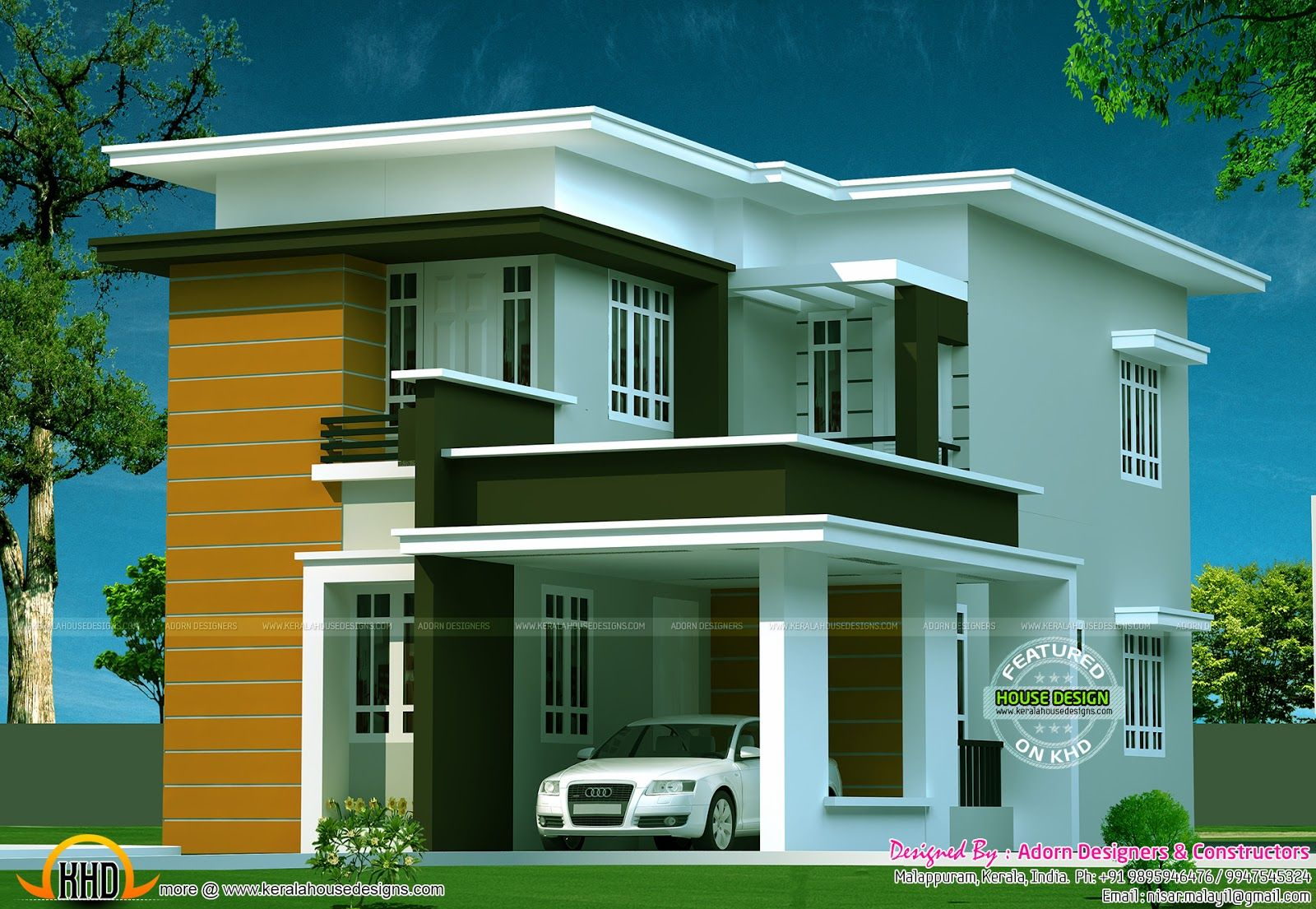 Contemporary Home Designs At Malappuram Part - 25: Smallest House · Modern House DesignModern ...
