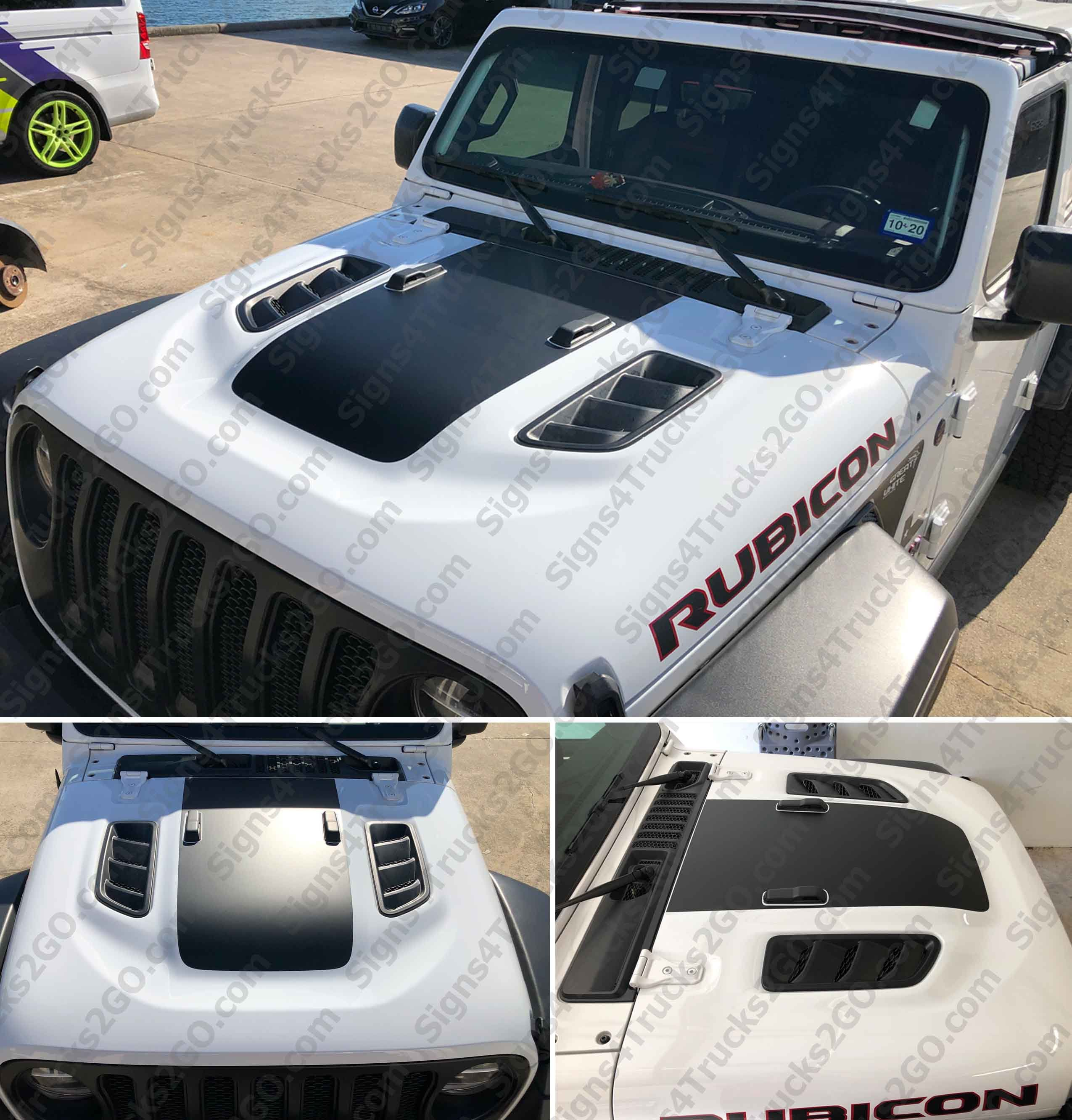 0765 2018 Jeep Rubicon Jl Jlu Hood Blackout Decal Graphic Jeep