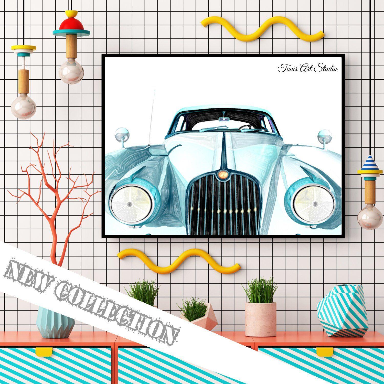 Vintage Car Wall Decor, Old Car Print, Antique Printable Art ...