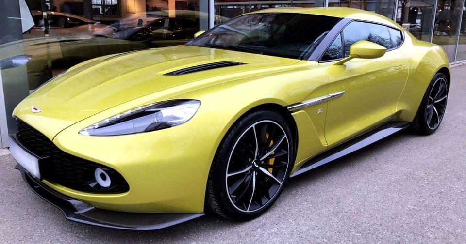 Yellow Aston Martin Vanquish Zagato Is An 880k Piece Of Art Carscoops Aston Martin Cars Aston Martin Aston Martin Sports Car