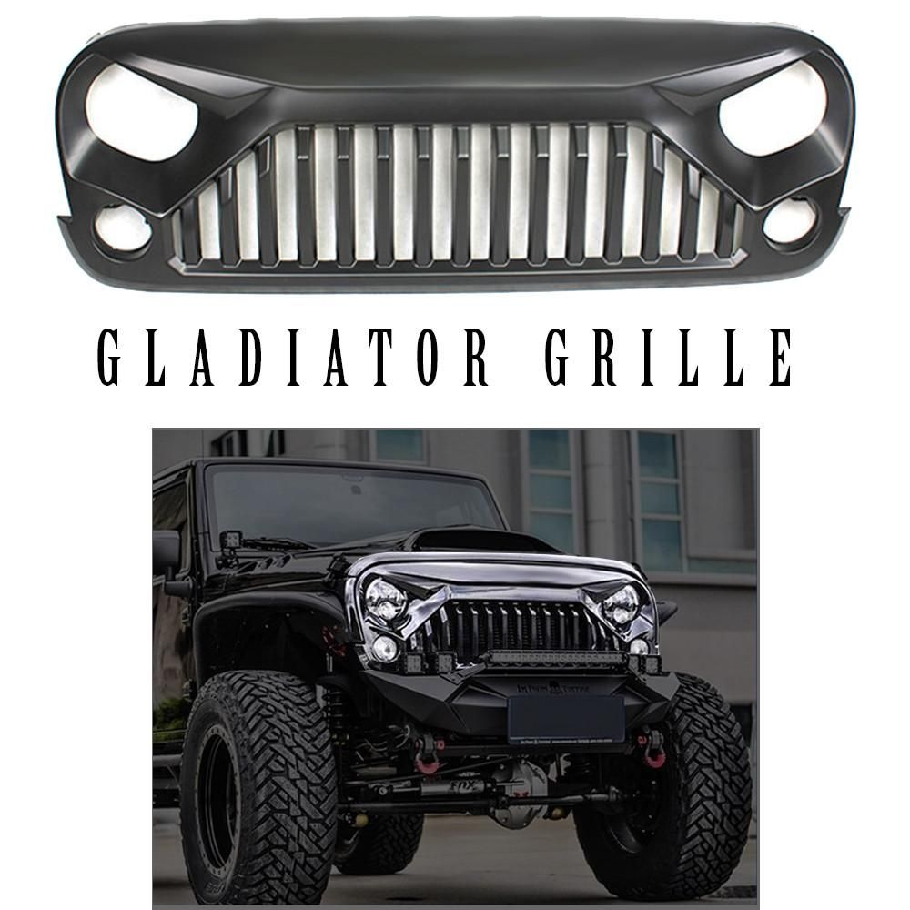 gladiator grille for jeep wrangler jk 2007 2017 in stock  [ 1000 x 1000 Pixel ]