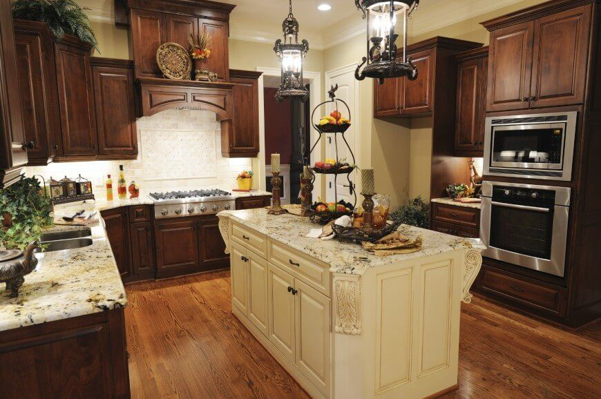 41 Luxury U-Shaped Kitchen Designs  Layouts (Photos) Island