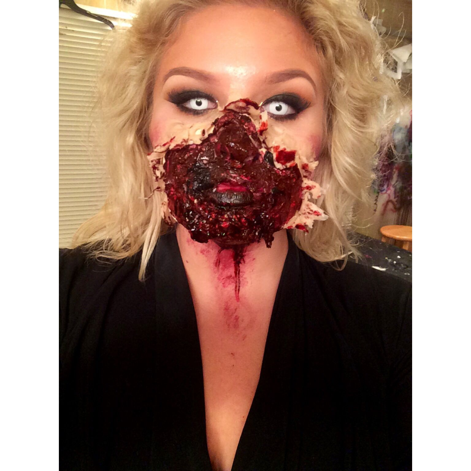 Exploded face special effects Celebrity makeup