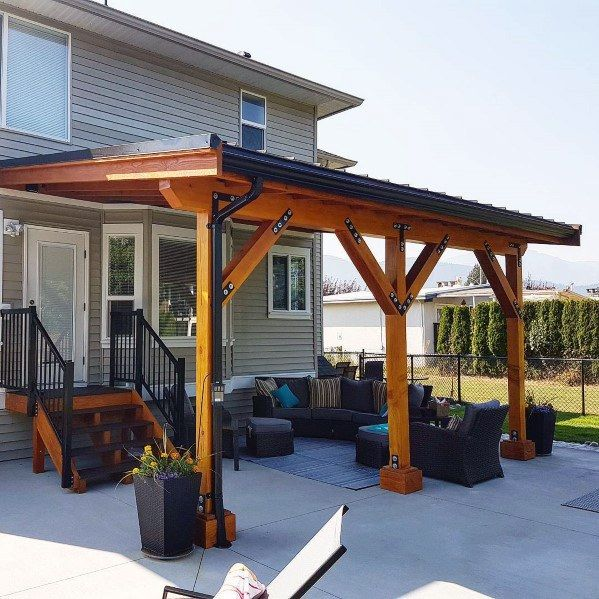 Top 60 Patio Roof Ideas Covered Shelter Designs Toit De Patio