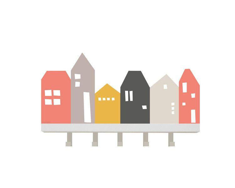 wandtattoo lille hus passend f r ikea garderobe l60cm. Black Bedroom Furniture Sets. Home Design Ideas