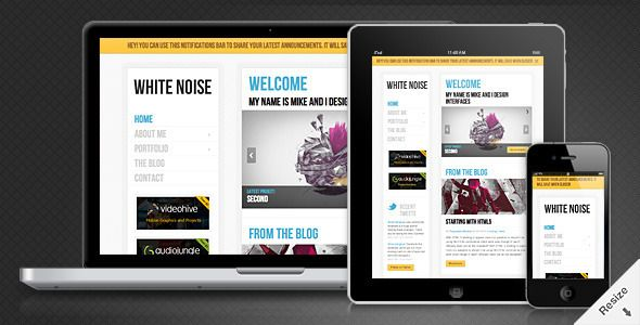 White Noise - Responsive WordPress Theme | Web design and related ...