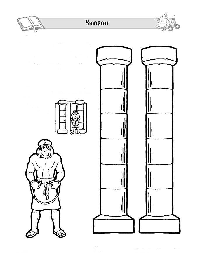 Sansón y las columnas del templo | для ВШ | Pinterest | Sunday ...