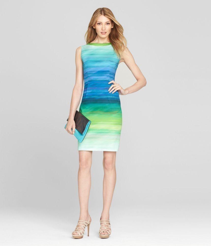 d136c7b7f6b2 Nwt ELIE TAHARI Woman's Holly Blue Ombre Dress Size 0 $398! | Home ...