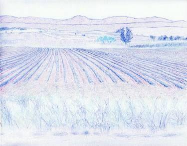 "Saatchi Art Artist Robert Lee; Drawing, ""Greek Landscape by Robert S. Lee (Sketchbook p. 132)"" #Robert #S. #Lee #drawing #art #artist #color #colour #Greece #Greek #Apostle #Paul #landscape #field #farm Entire Book on Paperback https://www.amazon.com/dp/B015Z10SPA or Kindle Edition 1 https://www.amazon.com/dp/B015100PH6 or Kindle Edition 2 https://www.amazon.com/dp/B01518XVG0 Black & White Edition https://www.amazon.com/dp/B015Z3KSEO"