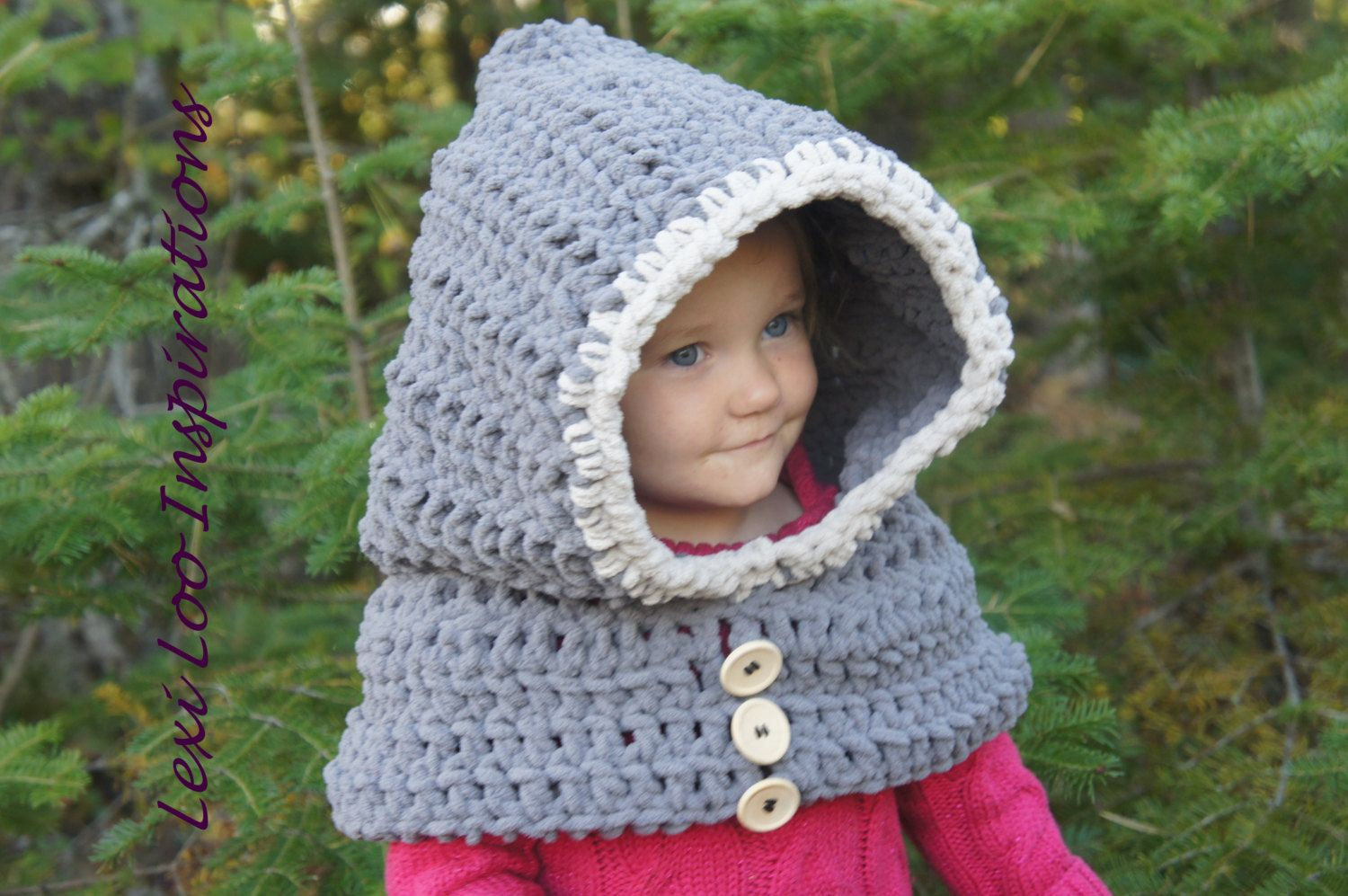 crochet hooded cowls, hooded cowl for kids, girls animal hoodies ...