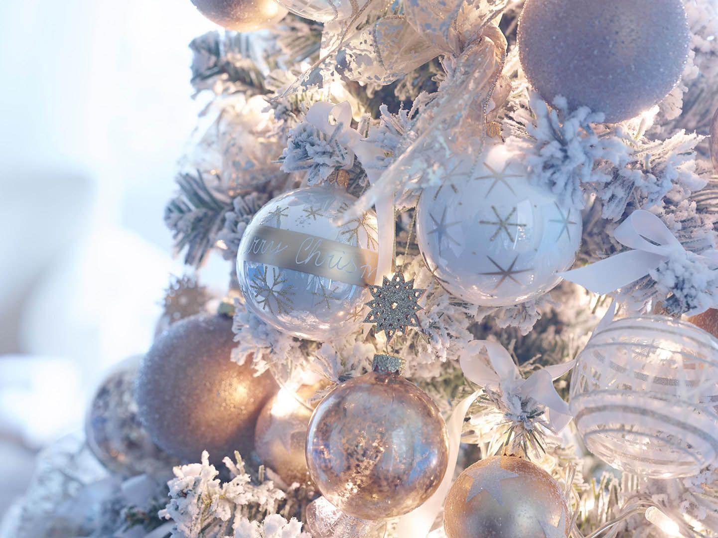 Depot Weihnachtskugeln.Depot Christbaumkugeln Weihnachtsschmuck Weiss Silber Gold Articus