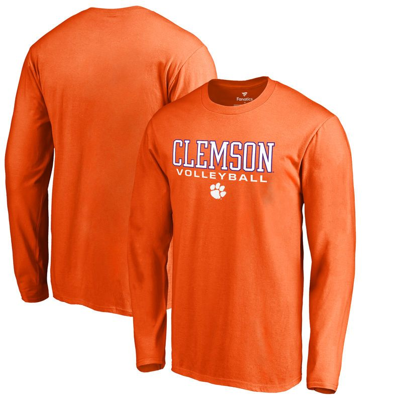 Clemson Tigers Fanatics Branded True Sport Volleyball Long Sleeve T Shirt Orange Long Sleeve Shirts Sleeves