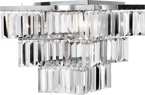Glass Prism Chrome Chandelier Ceiling Lights Modern