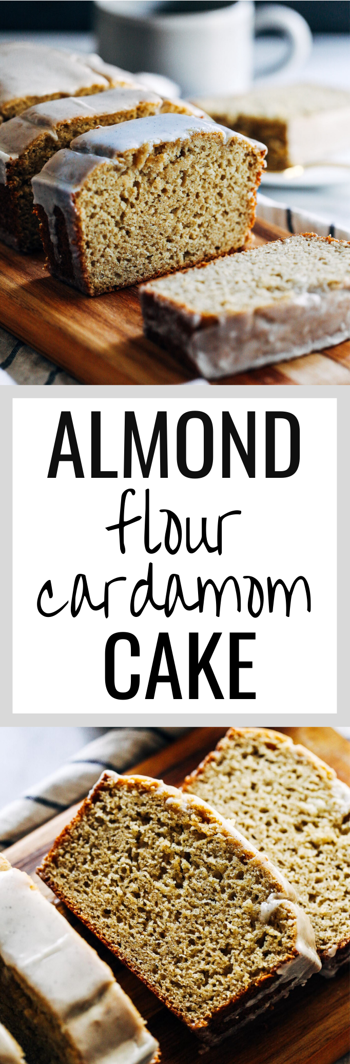 Almond Flour Cardamom Cake with Vanilla Bean Icing