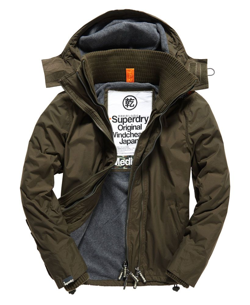 Mens Arctic Windcheater In Army Dark Grey Marl Mens Jackets Casual Jackets Mens Outfits [ 1000 x 820 Pixel ]