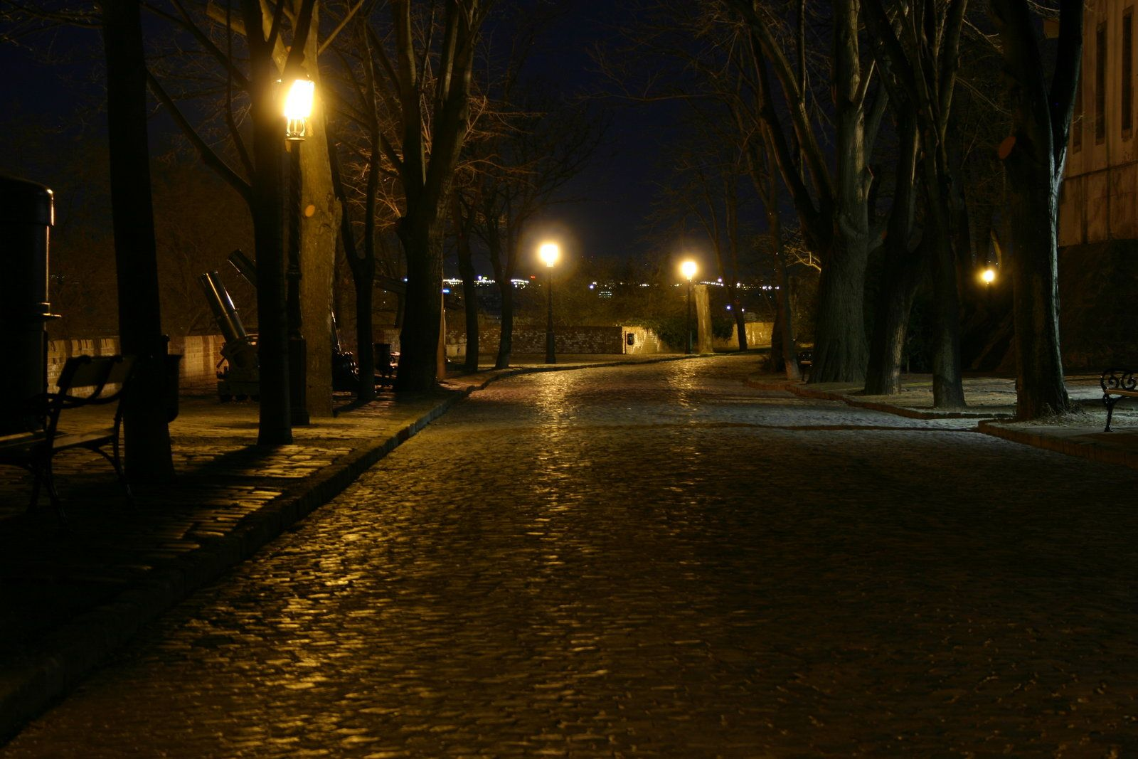 Empty Street At Night Empty Street By Mrmike89 Night Aesthetic Street Street Art