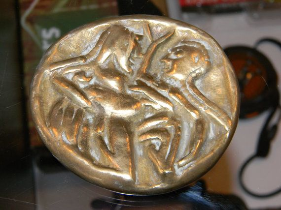 E Unique Rare PAPERWEIGHT Greek Brass Replica by #3FunkyMonkeys #DoubleTeamPromotionSocialMedia