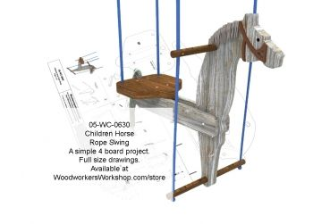Childrens Horse Rope Swing Woodworking Plan Woodworking