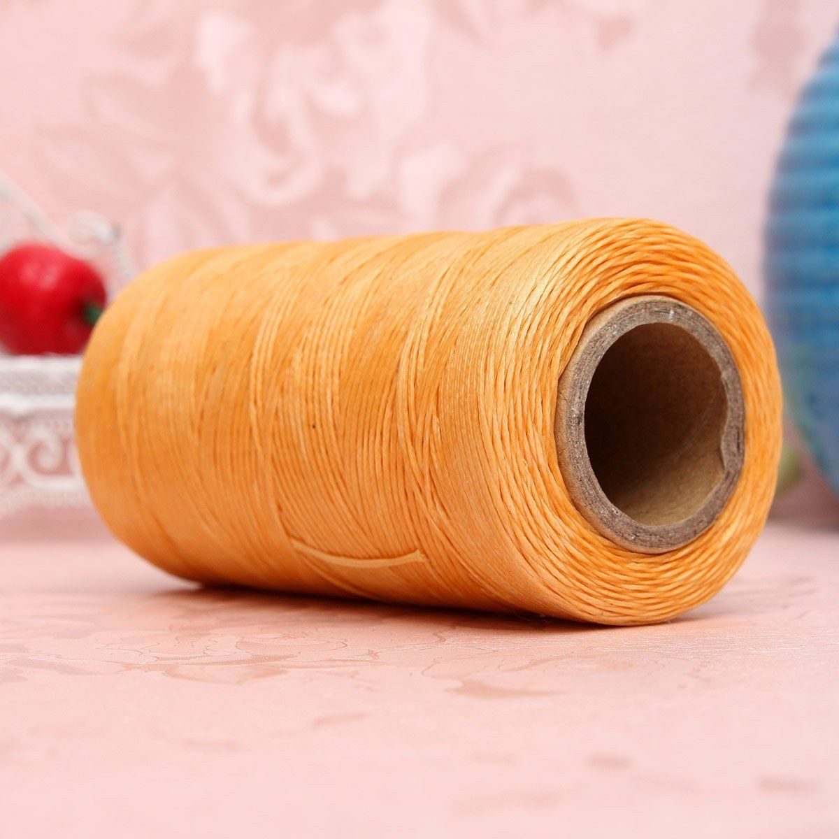 284Yard 150D Waxed Thread String Cord Sewing DIY Craft Leather Stitching Beige
