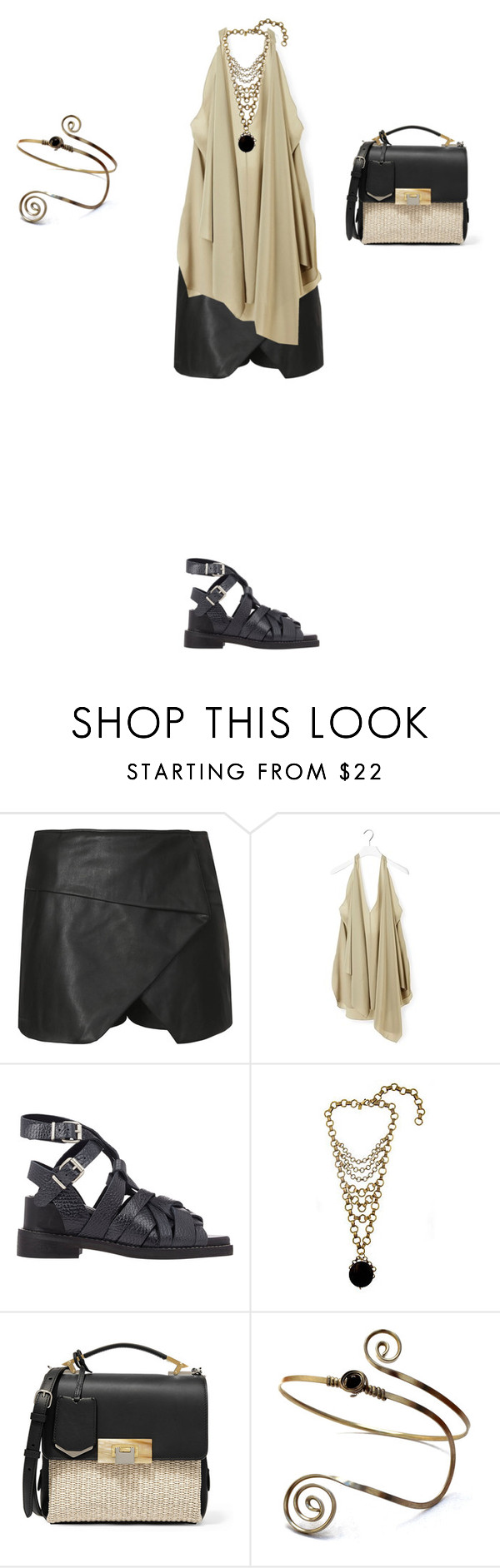 """""""Untitled #1001"""" by elenekhurtsilava ❤ liked on Polyvore featuring Topshop, Chloé, Acne Studios, Lionette and Balenciaga"""