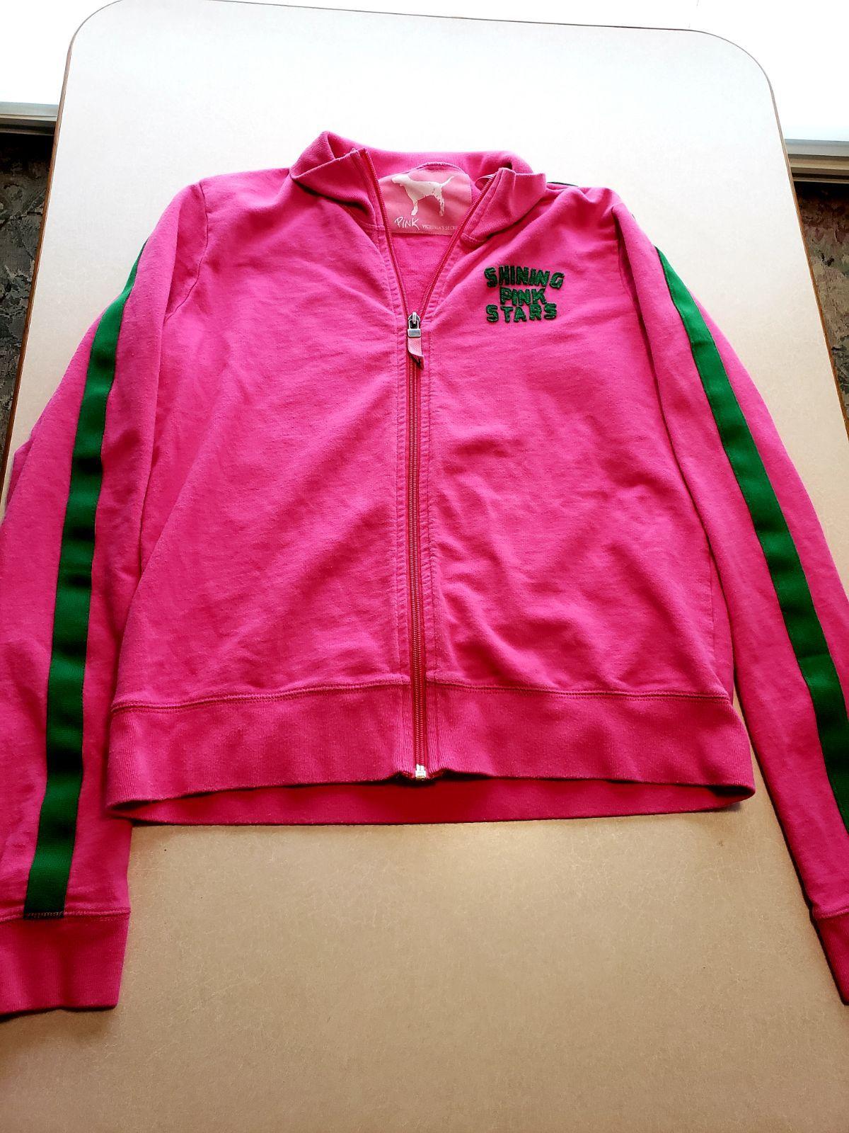 Victorias Secret Pink Womens Snap Funnel Neck Jacket Bling Ensign Blue Anorak Medium//Large