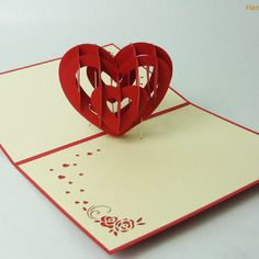 carte saint valentin coeur rouge originale kirigami 3d cartes 3d fait main pinterest carte. Black Bedroom Furniture Sets. Home Design Ideas