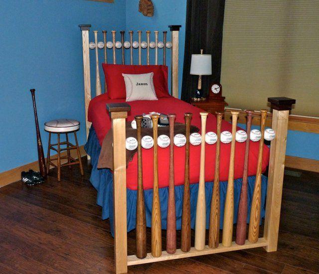 Baseball Bat And Ball Bed