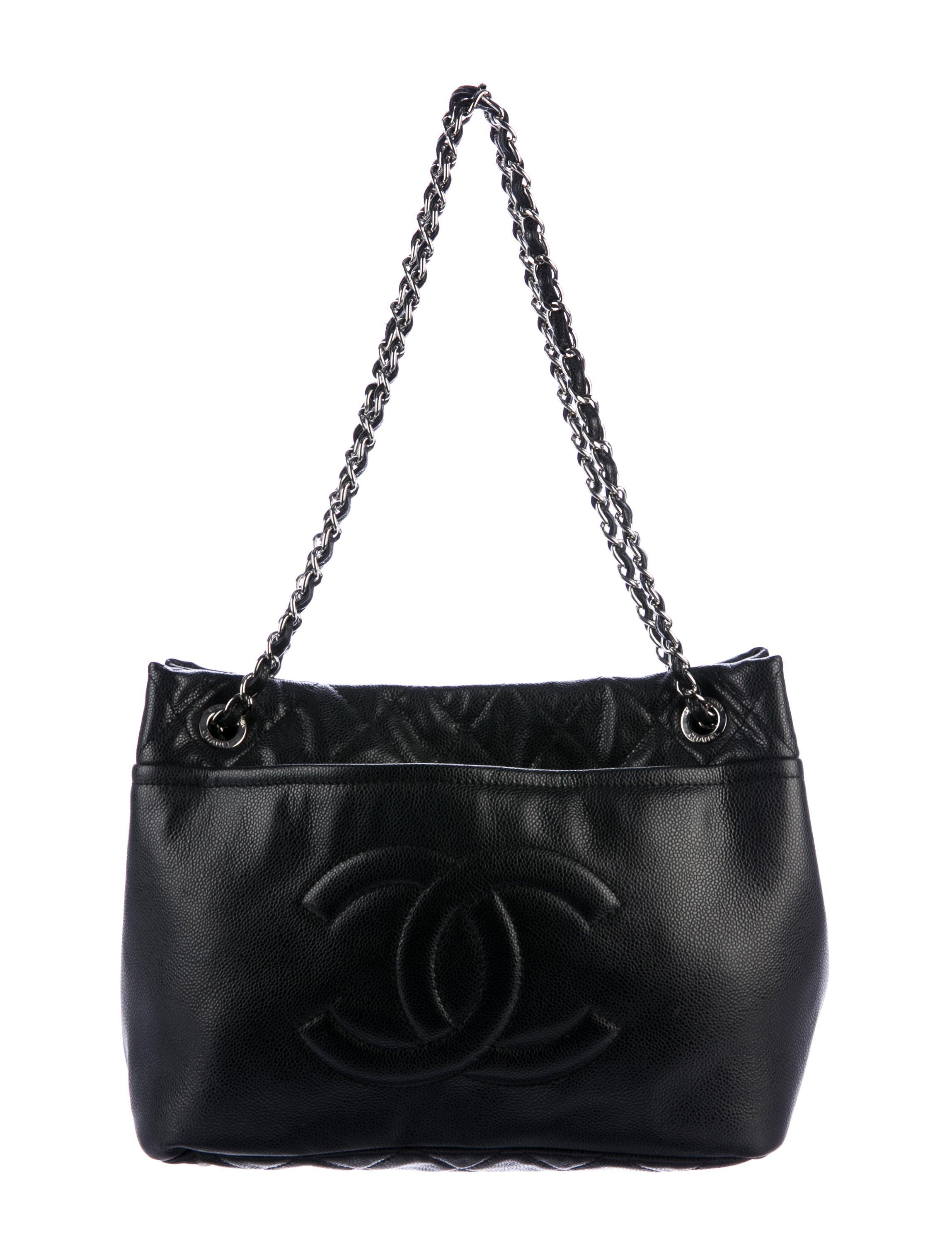 Black quilted Caviar leather Chanel Timeless Soft Shopper tote with  silver-tone hardware ea3a3bf368654