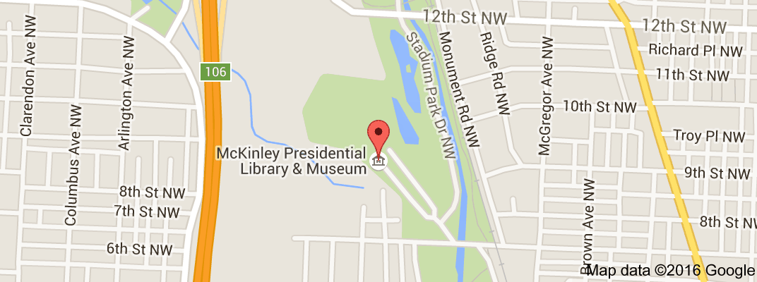 map of mckinley presidential library museum