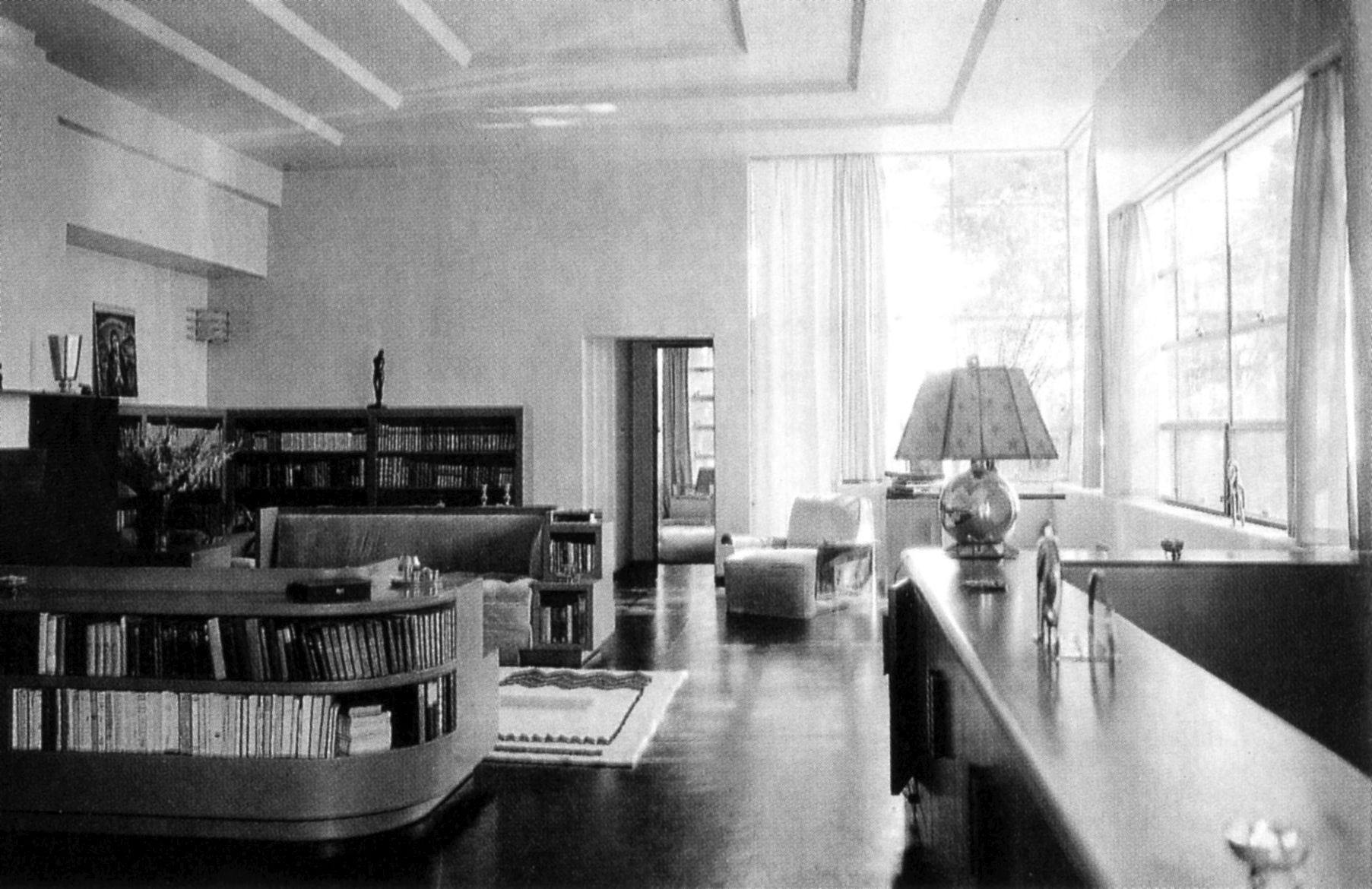 interior of gibbons u0027s house in the santa monica mountains as it