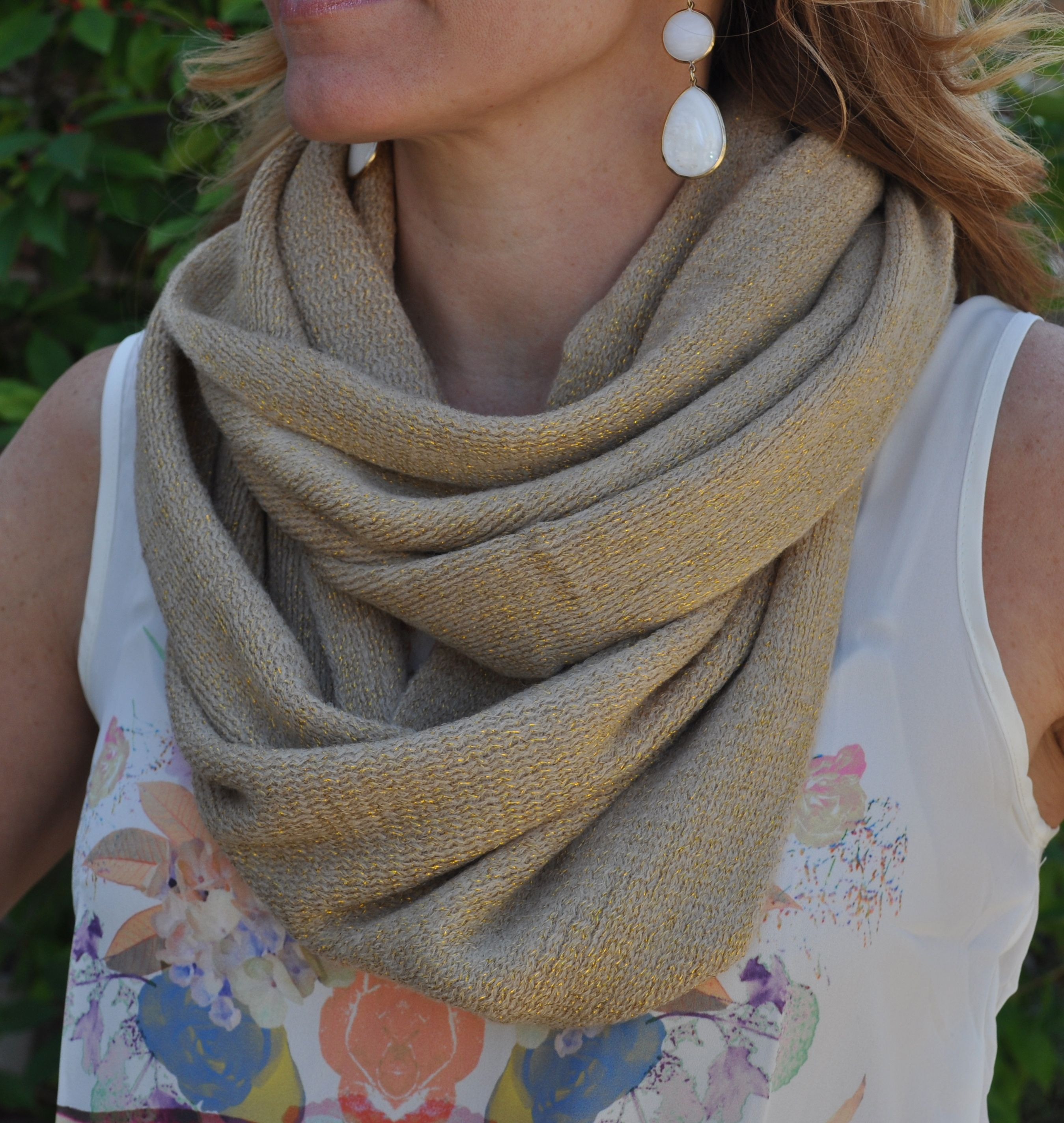 tan spring scarf that goes with it all!