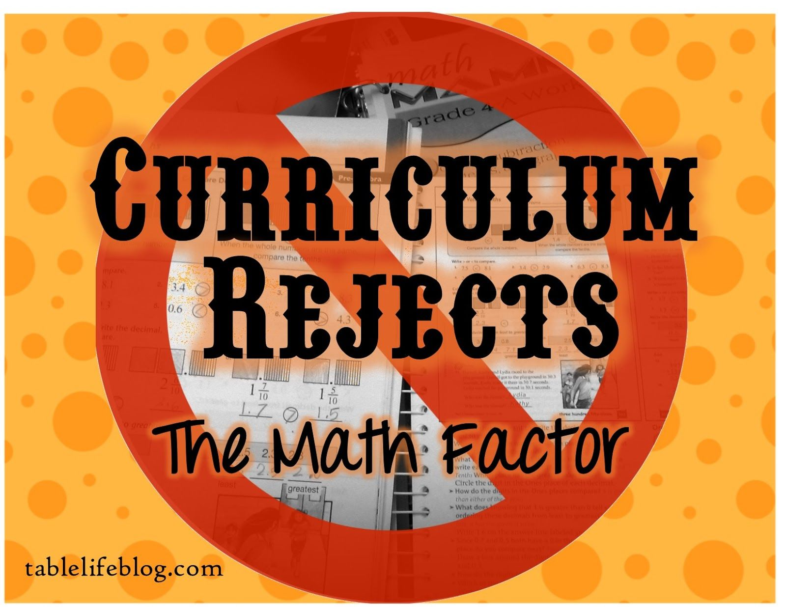 Life At The Table Homeschool Curriculum Rejects