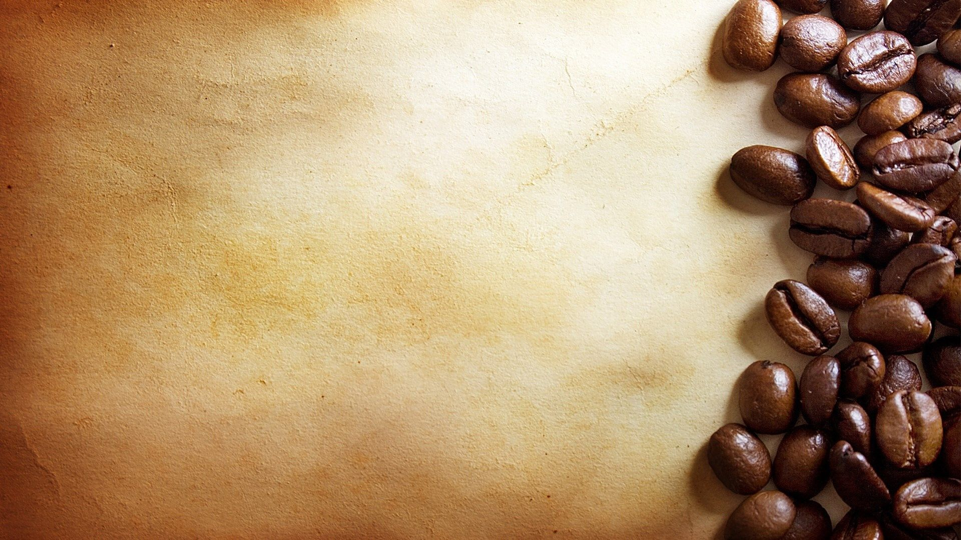 coffee bean food background beige paper bitter a pile backgrounds 1920x1080