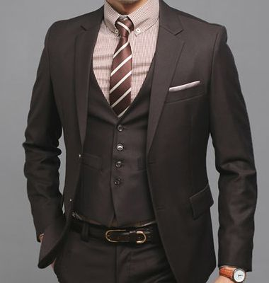 mens brown wedding suits | Hobbitly ever after | Pinterest | Vests ...
