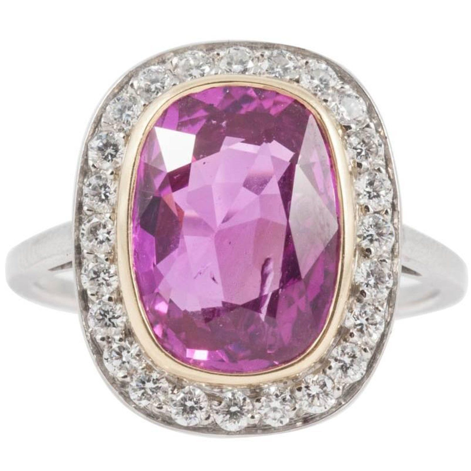 Natural No Heat 4.31 Carat Pink Sapphire Diamond Ring | jewelry ...