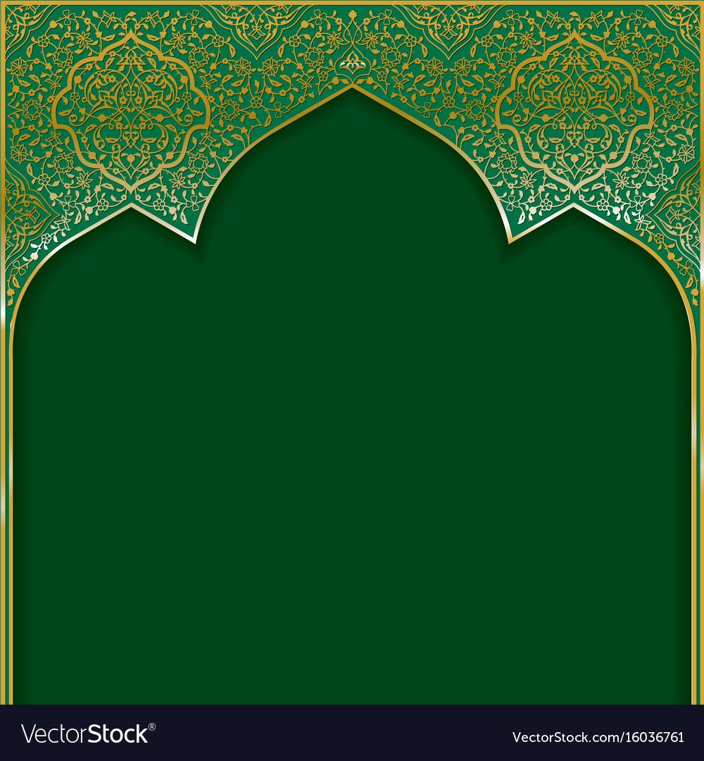 Traditional Background With Golden Floral Patterned Arched Frame Download A Free Preview Or H Poster Background Design Islamic Art Pattern Frame Border Design