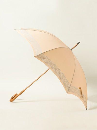 Fendi Pre Owned Monogram Trim Umbrella Farfetch Fendi Umbrella Vintage Monogram